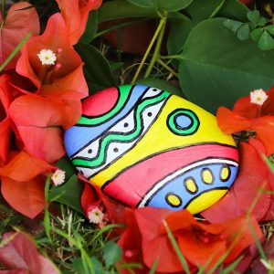 A Garden Treasure Hunt With Painted Rocks